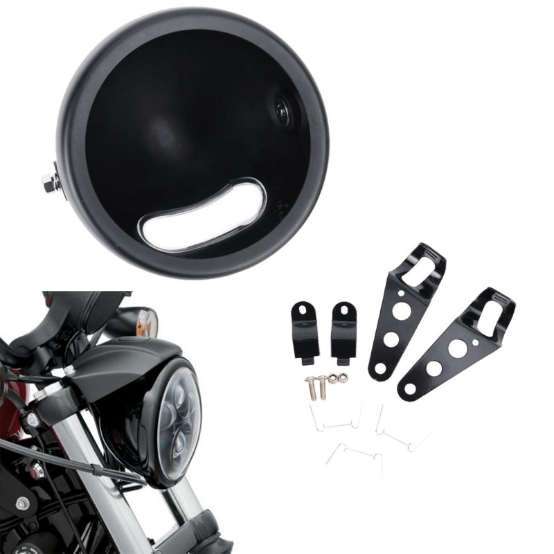 5.75' LED Headlight Lamp Shell with bracket For Harley Davidson Motorcycle