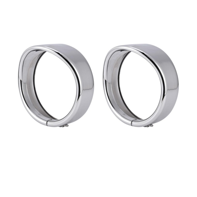 """4.5"""" Headlight Bezel Trim Ring Protect Guard Cover Cap for Harley Motorcycle 2x"""