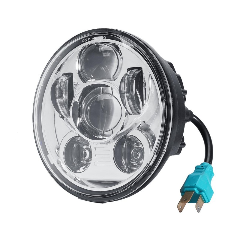 5-3/4 5.75 Inch 45W Daymaker Projector LED Headlight Harley Davidson Motorcycle