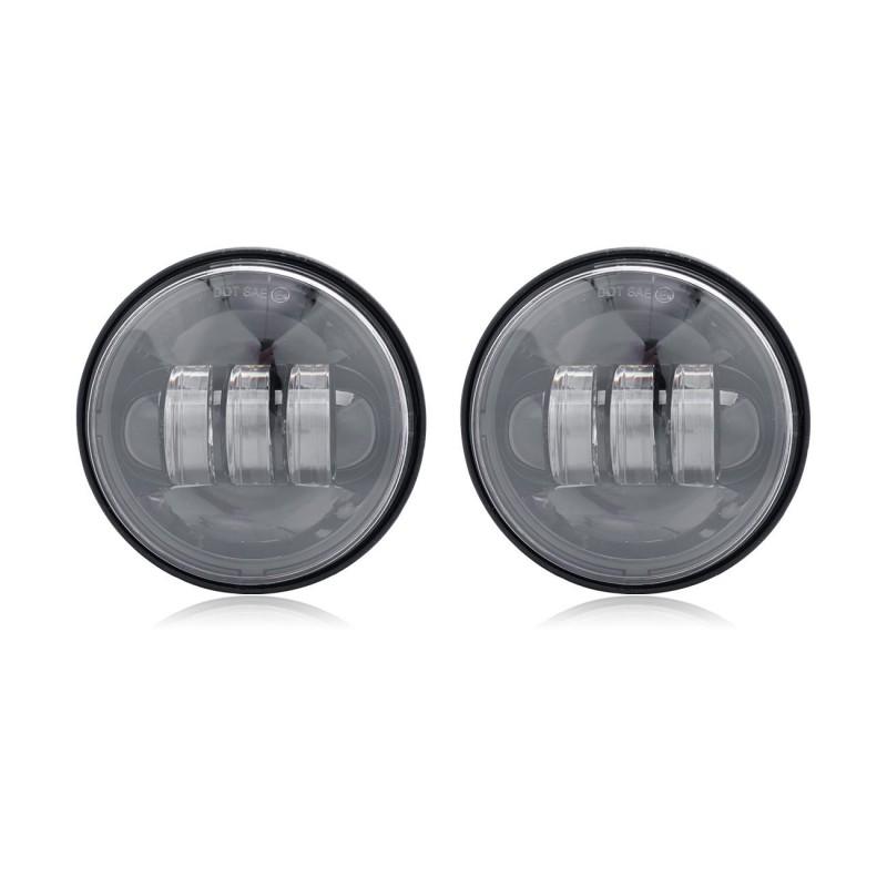 "1 Pair 4.5 "" Spot Fog Passing Light LED Auxiliary for Harley Davidson"
