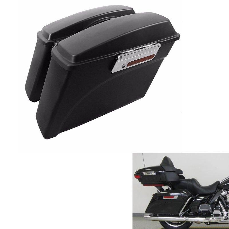 Matte Black  Saddlebags Trunk w/ Lid Latch For Harley Road Glide Road King 1994-2013