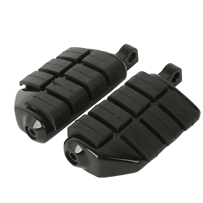 Black Wing Male Mount Footpegs Rest For Harley Softail Dyna Sportster XL