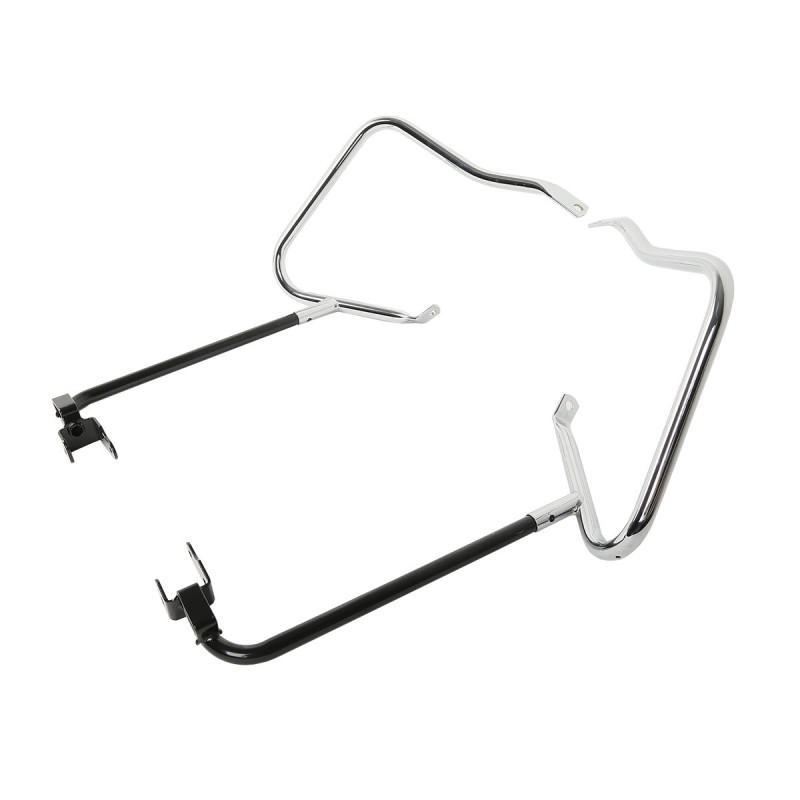 Chrome Saddlebag Bracket Guard Bars For Harley Electra Street Glide Ultra Limited 14-18