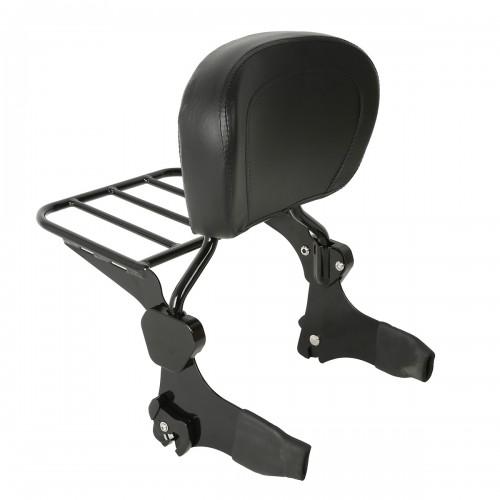 Detachable Backrest Sissy Bar W/ Luggage Rack For Harley Davidson Touring 97-08