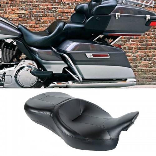 Black Rider Driver Passenger Seat For Harley Touring FLHR FLHX FLTRX FLHTK 14-18